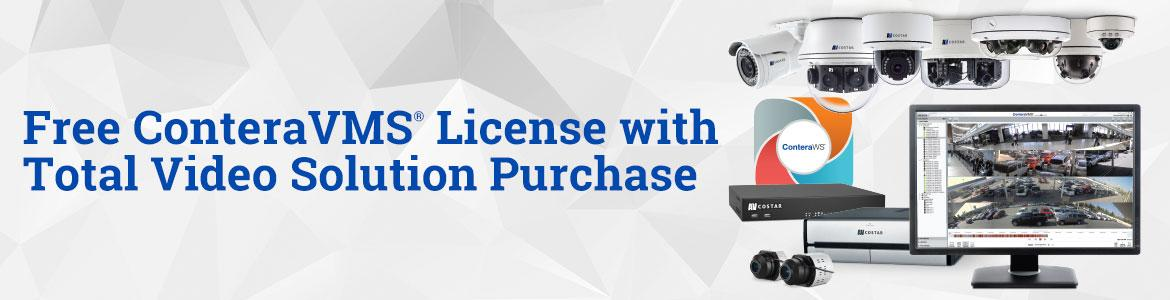 Free ConteraVMS® License with Total Video Solution Purchase