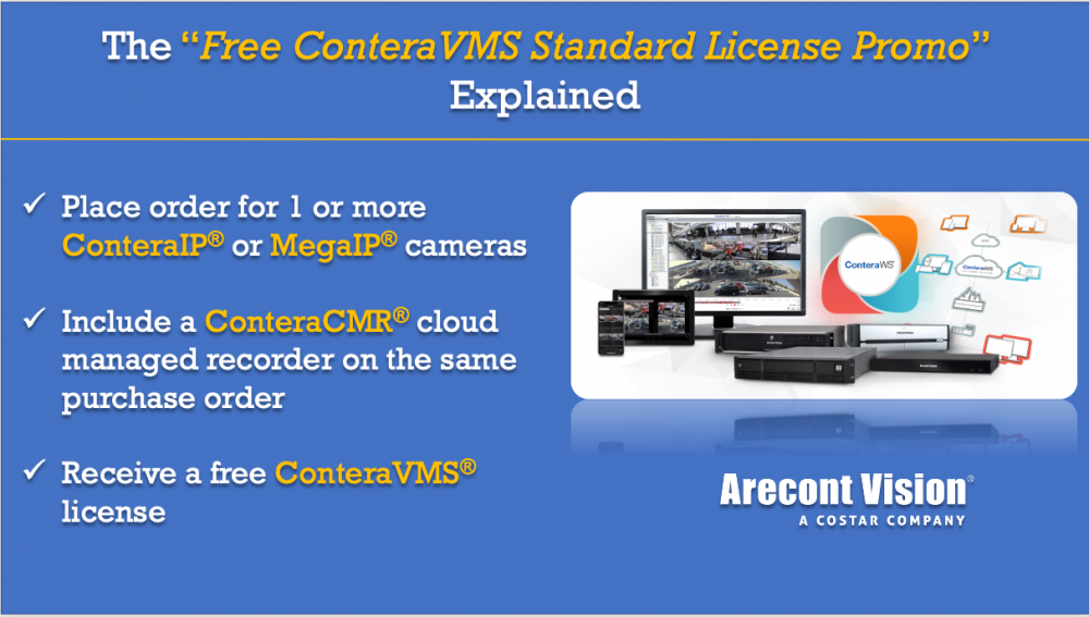 "The ""Free ConteraVMS Standard License Promo"" Explained & Other Ways to Leverage our Cloud-Enabled Video Management System"