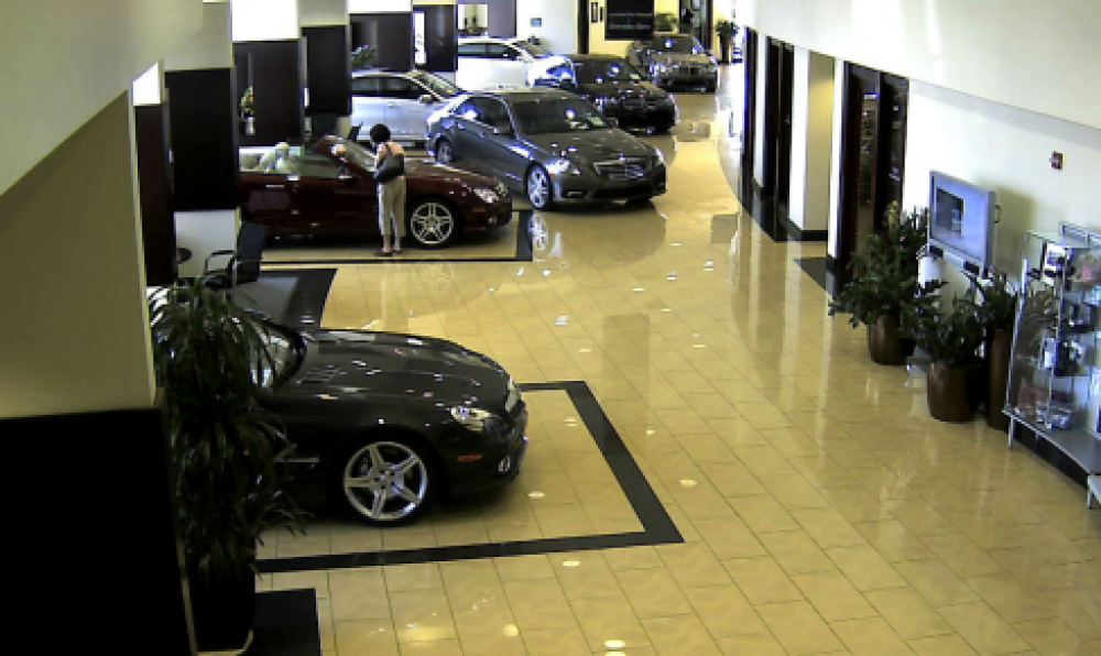 Megapixel Cameras Protect Millions in Mercedes-Benz Dealer's Inventory