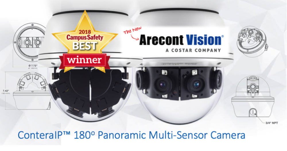 Arecont Vision ConteraIP™ Multi-Sensor Camera Named 2018 Campus Safety BEST Winner