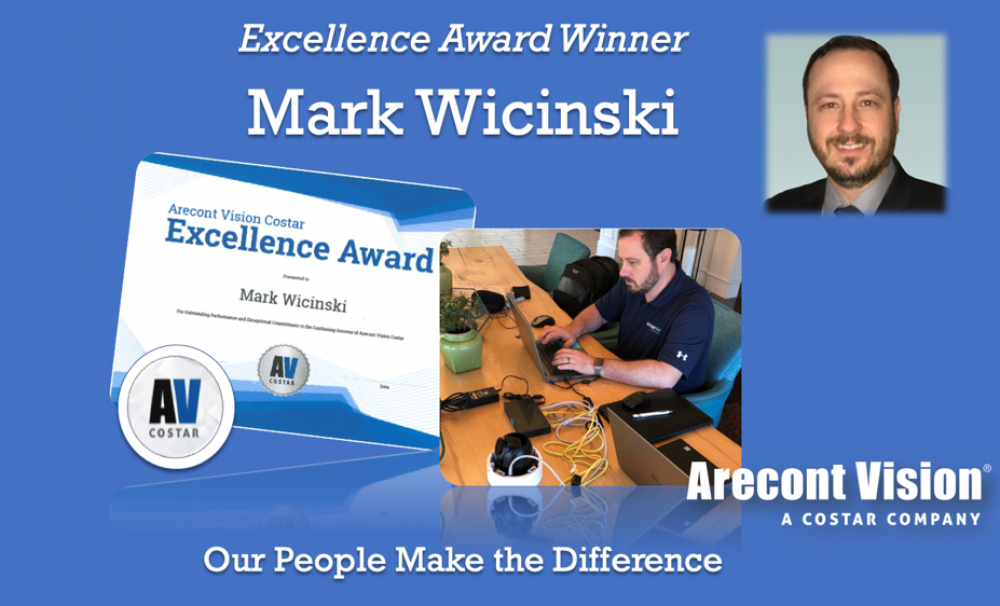 Mark Wicinski Earns Excellence Award at Arecont Vision Costar
