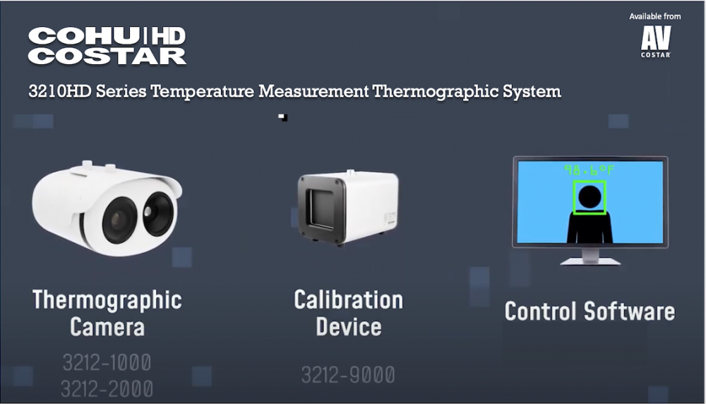 New CohuHD Costar 3210HD Temperature Measurement Thermographic System now available from AV Costar