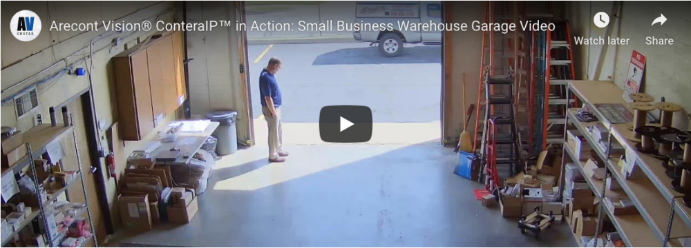 Small Business Warehouse Garage: Arecont Vision ConteraIP Camera in Action (GIT Security EMEA, November 2018)