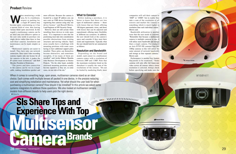Sis Shares Tips And Experience With Top Multi-sensor Camera Brands