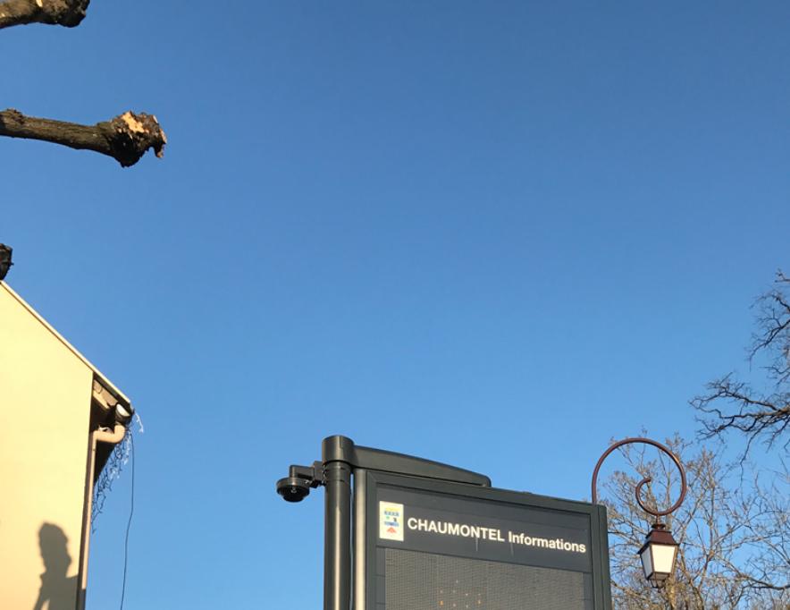 City surveillance, Chaumontel, France